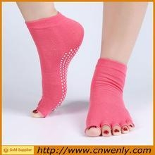China Adult breathable open toe yoga socks five fingers on sale