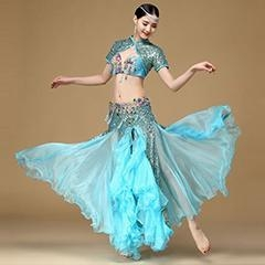 China Newest Turquoise Elegant Performance Belly Dance Costume,Adult Bellydance Outfit on sale