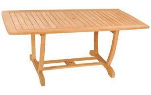 China Outdoor Teak Wood Teak Wood U Rectangular Table on sale