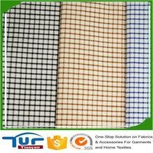 China Fabrics For Garment newest 2017 wholesale plain woven 100% shirt yarn dyed cotton fabric on sale
