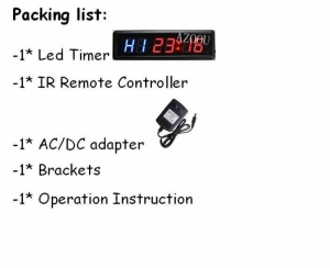 China Led timer 1.8Fitness Crossfit Interval Timer LED Digital Wall Clock Training on sale