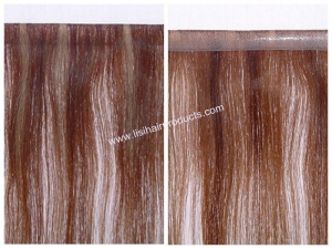 China P Color Skin Weft Prebonded hair /Keratin Extension on sale