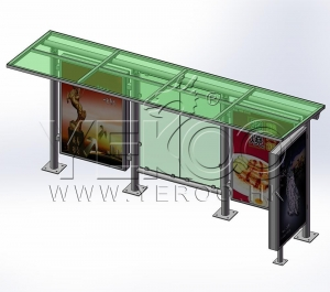 China Bus Shelters Number: YR-BS-5023 on sale
