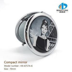 China Pocket mirror HX-6717A-6 Custom Made Photo Folding Flexible Compact Mirror Wholesale on sale