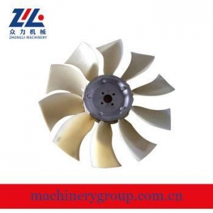 China Excavator spare parts cooling fan blade /plastic fan on sale