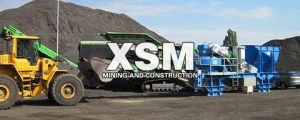 China Rack mounted mobile crushing plant on sale