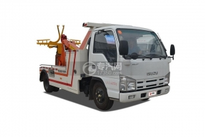 China Qingling Isuzu Conjoined towing wrecker truck on sale