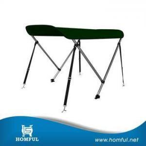 China Homful 100% polyester solution dyed marine hardware UV protection aluminum round tube bimini top on sale