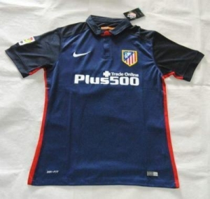China AAA(Thailand) Quality Atletico Madrid 15/16 Away Blue Soccer Jersey on sale