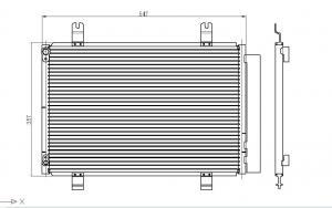 China SUZUKI SWIFT 05 condenser OEM:95310-63J00 940057 on sale