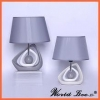 China silver and white cool beautiful porcelain bedroom table lamps for sale