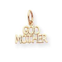 14K Gold God Mother or God Father Charm