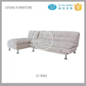 China sectional sofa bed, sofa bed with comfortable chaise, LF-3082 on sale