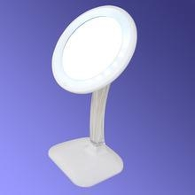 China LED lighted cosmetic mirror desk cosmetic mirror with light Adjustable tabletop vanity mirror on sale