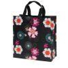 China Jam Poly Shopping Bag - Black Flower Power for sale
