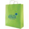 China Striped Tinted Kraft Finish Promotional Shopping Bag - 16