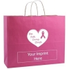 China Custom Shopping Bag - Breast Cancer Awareness Kraft Finish for sale