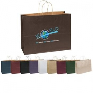 China Full Color Imprint Matte Finish Promotional Shopping Bag - 16w x 12h x 6d supplier