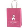 China Tinted Kraft Finish Breast Cancer Awareness Custom Shopping Bag for sale