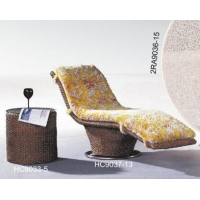 supply in large quantities rattan chaise lounge Model:9037-13
