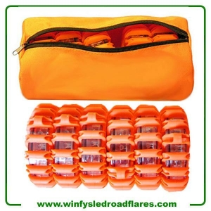 China Led Road Flares Led Road Flares 6 Pack Bag Packed on sale