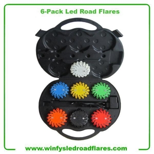 China Led Road Flares 6-Pack Rechargeable Led Road Flares on sale