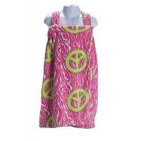 Bed In A Bag Pink Zebra Print Peace Jr. Bath Wrap