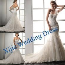 China Factory Direct Sell New Arrival Latest Halter Applique Bridal Dress 2014 Made In China --- Ali-0006 on sale