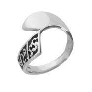 China Carved Band Plain Sterling Silver Ring on sale