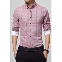 China Men's Shirts Muddy Pink Mens Plaid Shirt on sale