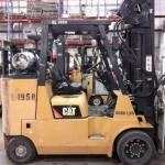 China Caterpillar Forklifts GC55KS 6 Ton 12,000lb Cushion Tire Propane Forklift 2011 on sale