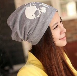 China men winter skull printing hats for wholesale on sale