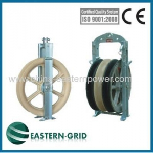 China overhead power line transmission conductor stringing block china on sale