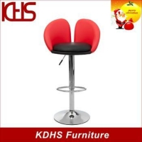 China manufacturer kitchen used height adjustable swivel bar stool chrome