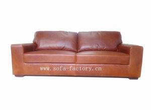 China Antique aniline leather sofa sets A1009 on sale