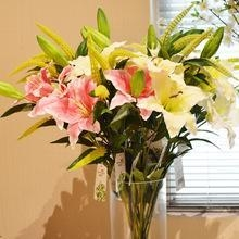 China artificial silk lilies wholesale flower china artificial flower manufacturer on sale