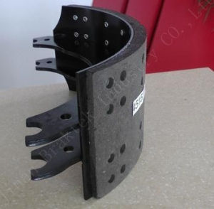 China heavy duty truck parts 4515 brake lined shoe on sale