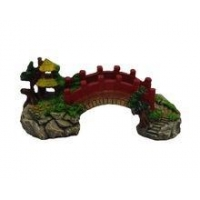 China Resin Ornaments Aquarium Ornaments Chinese looking Arch Bridge Fish Tank Landscaping on sale