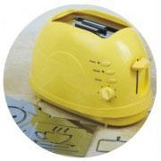 China Toaster with Detachable Roasting Logo Yellow Color on sale