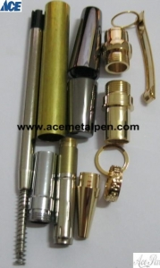 Quality Pen Kits Flat Top Sierra Pen Kits with customized Center Band for sale