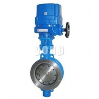 China Electric three eccentric regulative butterfly valve on sale