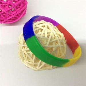 China custom segmented silicone wristbands [SY210] on sale