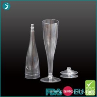 China Clear Plastic Champagne Flutes 4.5 oz Disposable on sale