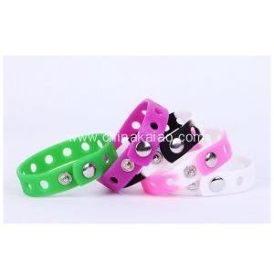 China Color Party Concert Travel Silicone Adjustable Bracelet for Children Kids on sale
