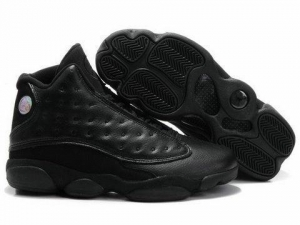 China Air Jordan 13 Retro Black Black Shoes on sale