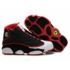 China Air Jordan 13 Retro Black White Red Shoes for sale