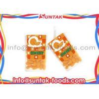 Orange Coated Organic Sugar Free Candy , Colorful Mint Candies Oval Shape