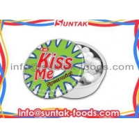 Cooling Low Calorie Candy With Low Sugar Promotion Gift Confectionery In Click Clack Tin Box