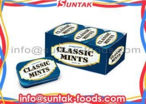 China Calorie Free Compressed Dextrose Candy , Sugar Free Peppermints With Display Box on sale