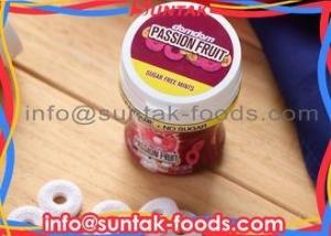 China No Sugar Fresh Breath Mints , Pink And White Candy Multi Ingredients on sale